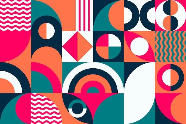 Carta da parati murale di forme geometriche