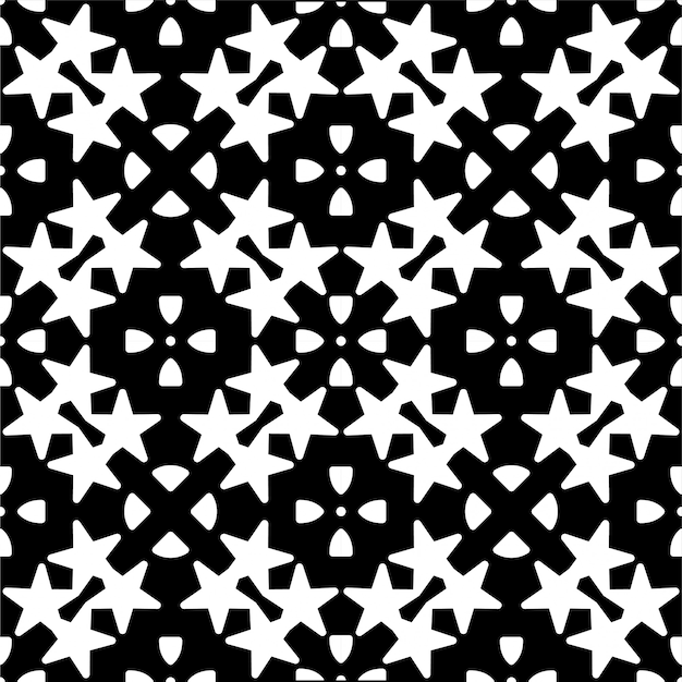 Modello senza cuciture monocromatico stella geometrica