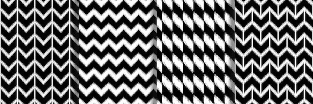 Set di modelli senza cuciture boho geometrici e a righe