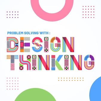 Lettering design grafico stile geometrico
