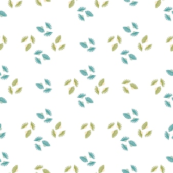 Modello senza cuciture in stile geometrico con forme di fiori ornamentali margherita verde e blu. stampa isolata. progettato per il design del tessuto, la stampa tessile, il confezionamento, la copertura. illustrazione vettoriale.
