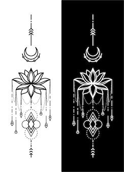 Disegno del tatuaggio geometrico