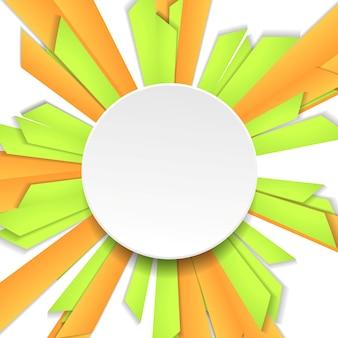 Fondo luminoso di tecnologia geometrica con il cerchio. modello di disegno vettoriale