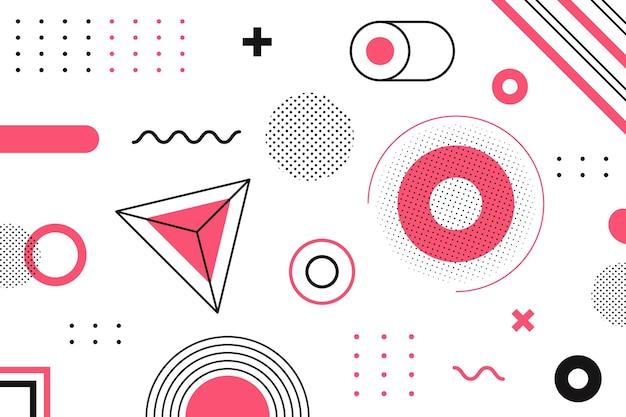Progettazione grafica di sfondo geometrico