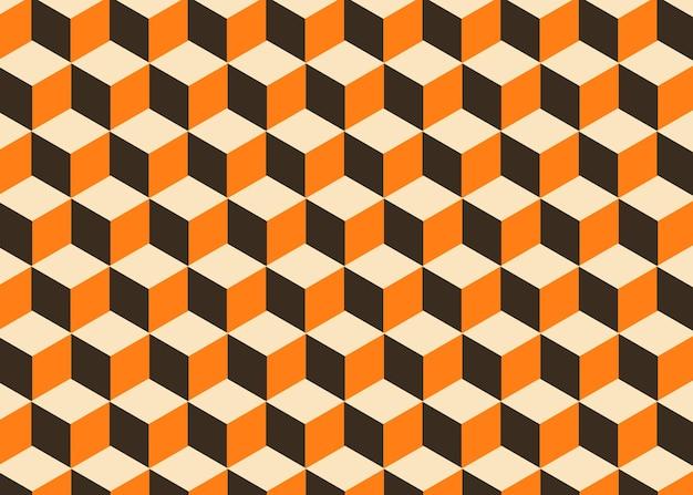 Cubo retrò texture di sfondo geometrico
