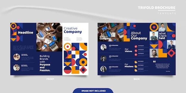 Modello di brochure aziendale moderna geometrica