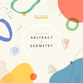 Motivi geometrici per webdesign. illustrazione.