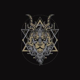 Geometry fire lion per merce, abbigliamento o altro