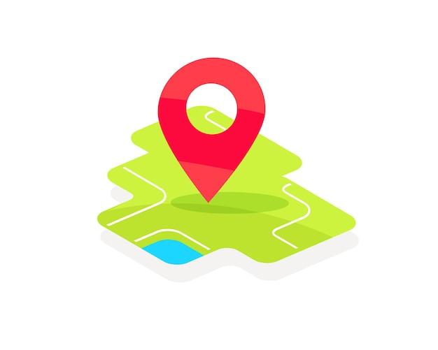Geotag sulla mappa geolocalizzazione mappa vettoriale piatta astratta della città puntatore a spillo indicatore di geotag