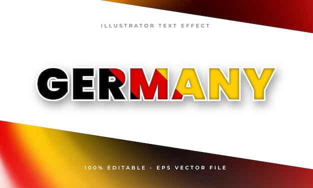 Effetto di testo modificabile germania con trama bandiera tedesca
