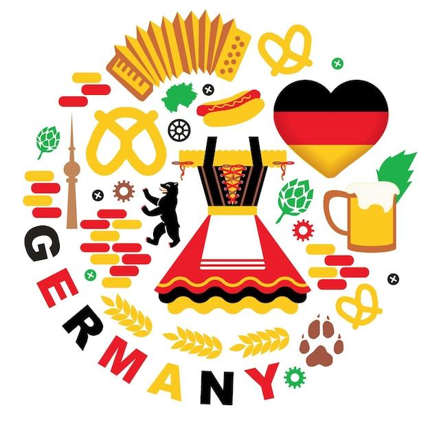 Collezione di elementi di germania. festa dell'oktoberfest.