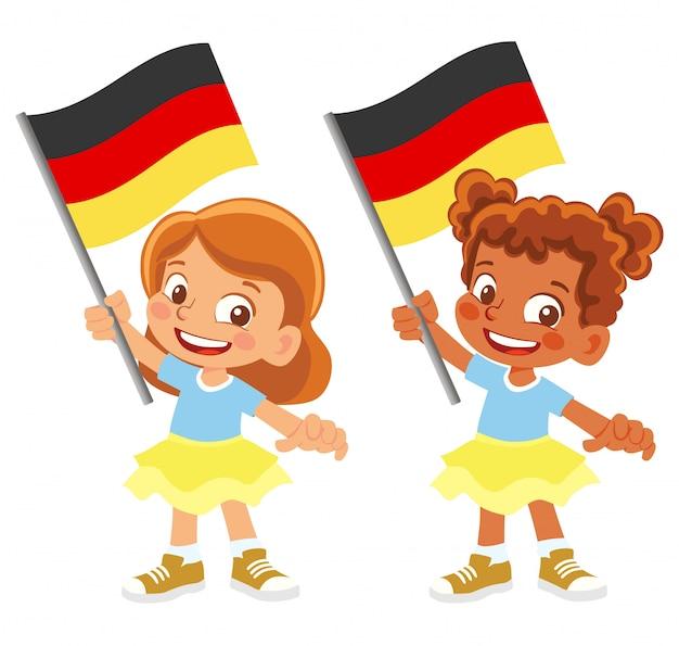 Bandiera della germania in mano insieme