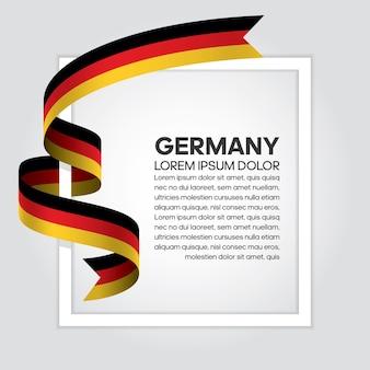 Bandiera del nastro della germania, illustrazione vettoriale su sfondo bianco