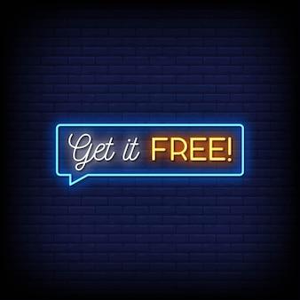 Ottieni testo in stile insegne al neon gratis