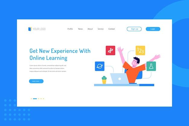 Ottieni nuove esperienze con l'apprendimento online sulla pagina di destinazione