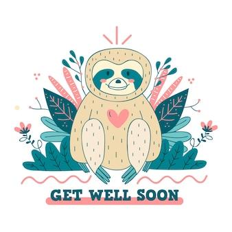 Guarisci presto con un bradipo carino