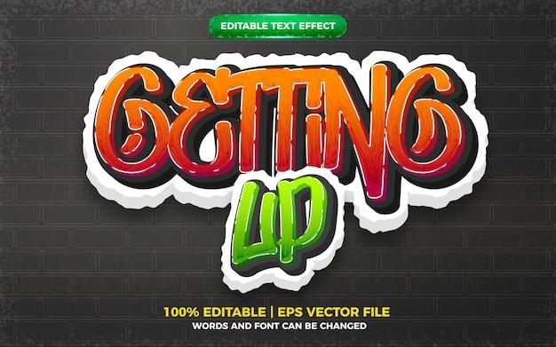 Alzarsi graffiti art style logo effetto testo modificabile 3d