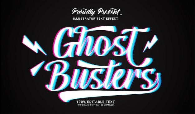 Effetto ghost busters in stile testo. effetto di testo modificabile