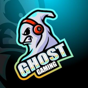 Illustrazione di esport della mascotte di gioco fantasma