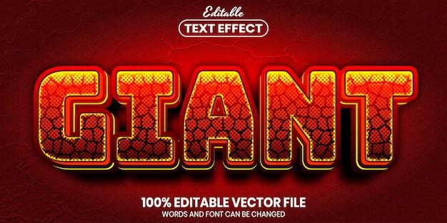 Testo gigante, effetto testo modificabile in stile carattere