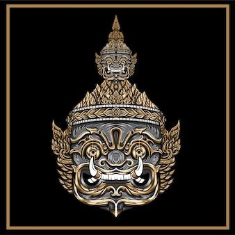 Maschera thailandese gigante