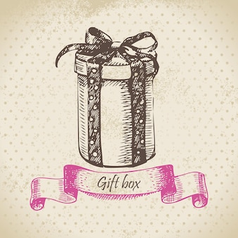 Pacco regalo. illustrazione disegnata a mano