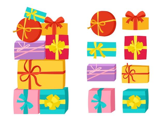 Confezione regalo mucchio nastro festa di compleanno a sorpresa set