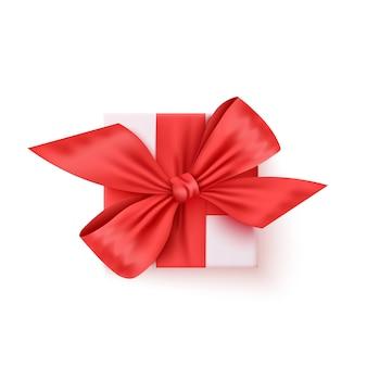Confezione regalo, presente realistico vettoriale. compleanno, regalo di natale