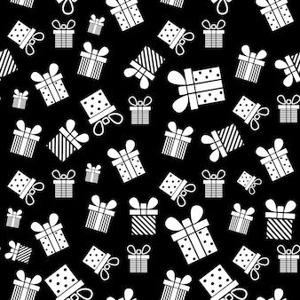 Confezione regalo senza cuciture modello presente illustrazione vettoriale design per natale capodanno vacanze