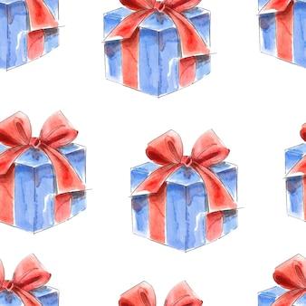 Confezione regalo, fondo del modello dell'acquerello