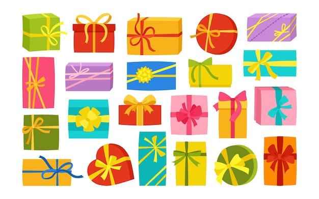 Confezione regalo con nastro compleanno piatto regalo sorpresa
