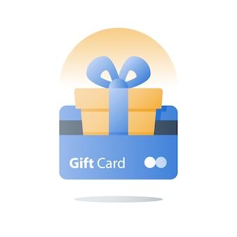 Carta regalo, programma fedeltà, guadagna ricompensa, riscatta regalo