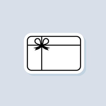 Adesivo carta regalo, logo, icona. vettore. icone della carta fedeltà. incentivo regalo logo. raccogli bonus, guadagna ricompensa, riscatta regalo, vinci un regalo. vettore su sfondo isolato. eps 10