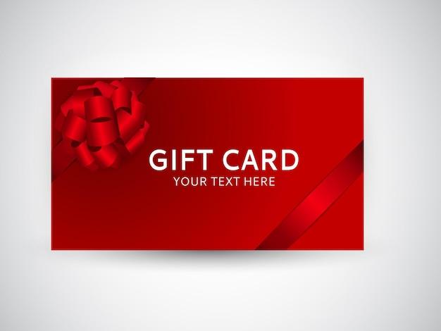 Modello di carta regalo con fiocco e nastro illustrazione vettoriale eps10