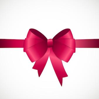 Carta regalo con nastro rosa e fiocco. illustrazione vettoriale eps10