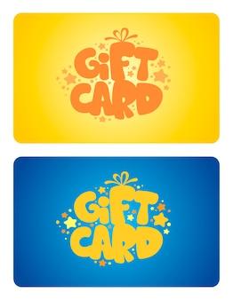 Set di carte regalo