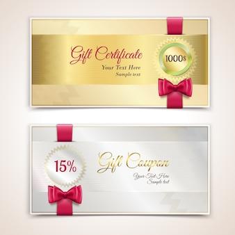 Set di certificati regalo