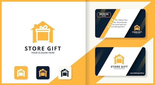 Logo della casa regalo e design del biglietto da visita
