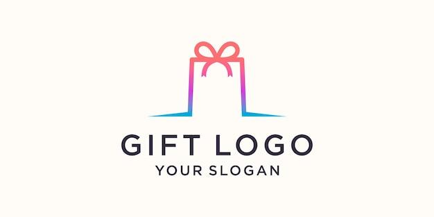 Negozio di articoli da regalo logo simbolo modello di disegno vettoriale, emblema, concetto di design, simbolo creativo, icona