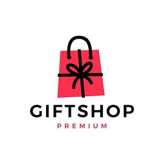 Logo della borsa della spesa del negozio di articoli da regalo
