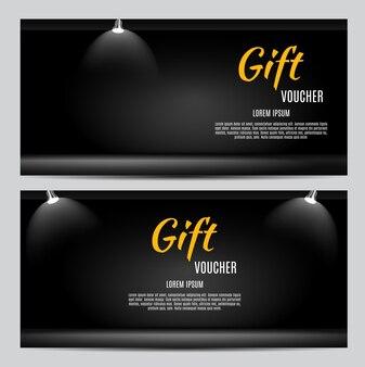 Illustrazione di vettore del modello del buono regalo per il tuo business eps10