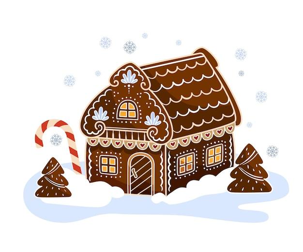 Casa di marzapane. un dolce e bellissimo regalo di natale.