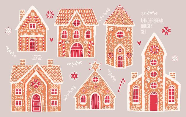 Set di case di marzapane