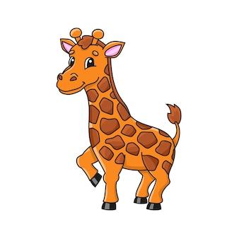 Animale giraffa simpatico personaggio
