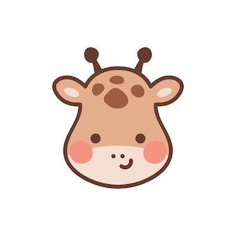 Illustrazione vettoriale di testa di giraffa per la scuola materna