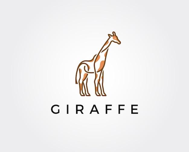 Modello logo giraffa