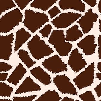 Modello vettoriale di pelle di giraffa