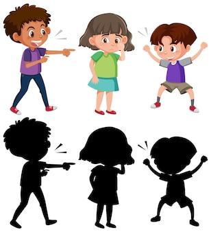Una ragazza che piange perché due ragazzi la maltrattano con il verbale