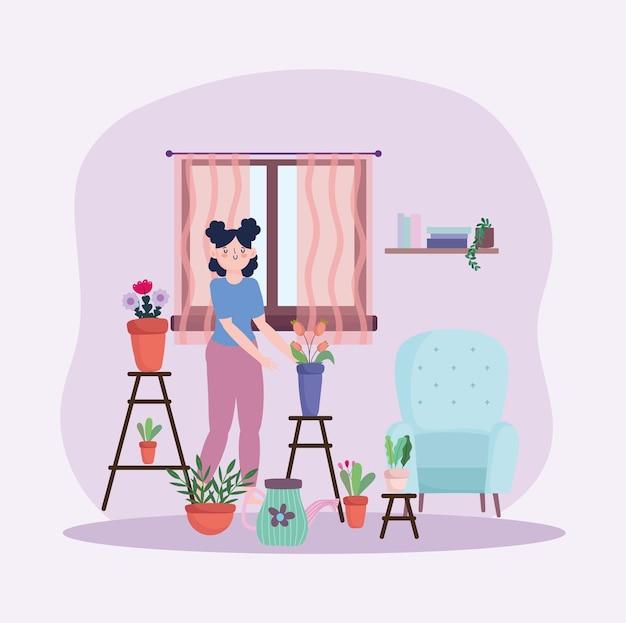 Hobby giardinaggio ragazza
