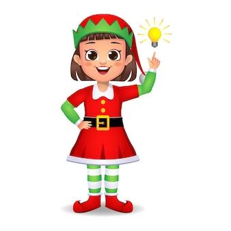 Una ragazzina vestita da elfo ha avuto un'idea